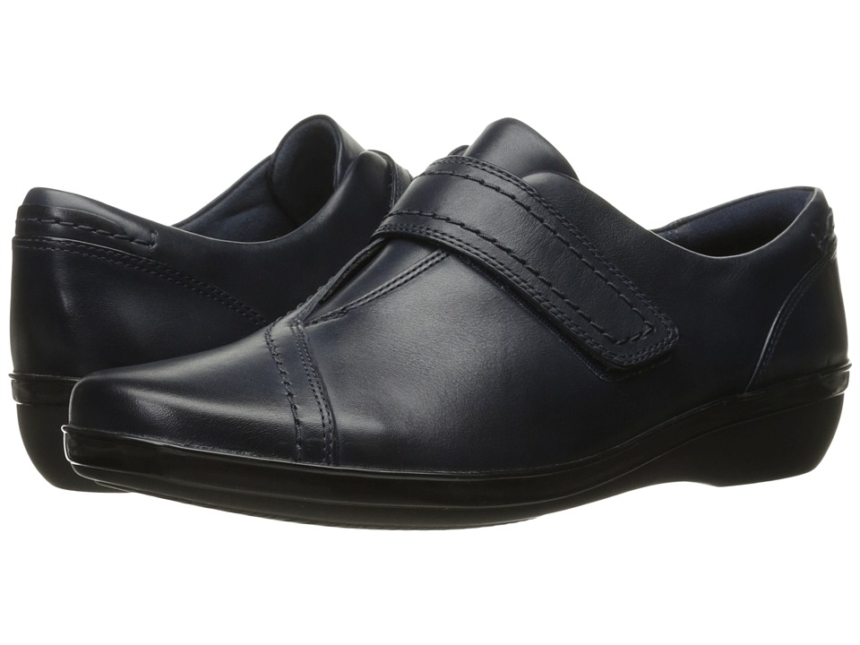 Clarks Everlay Dixey (Navy Leather) Slip-On Shoes