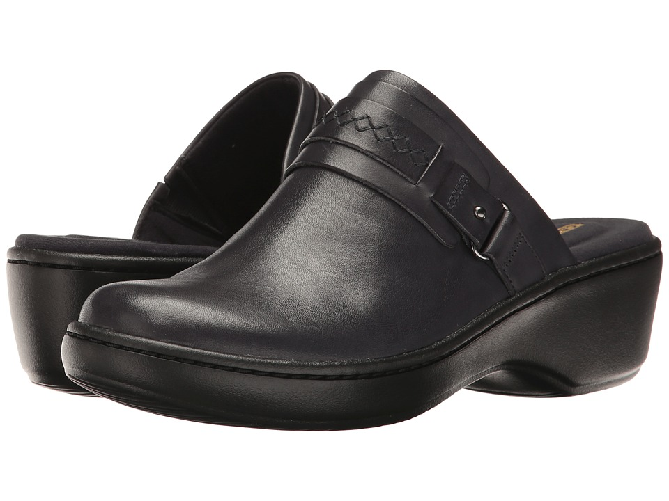 Clarks Delana Amber (Navy Leather) Clogs