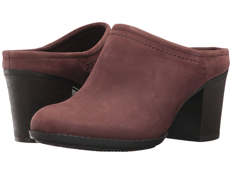 Clarks Enfield Sandy (Mahogany Leather) Women's Clog Shoes