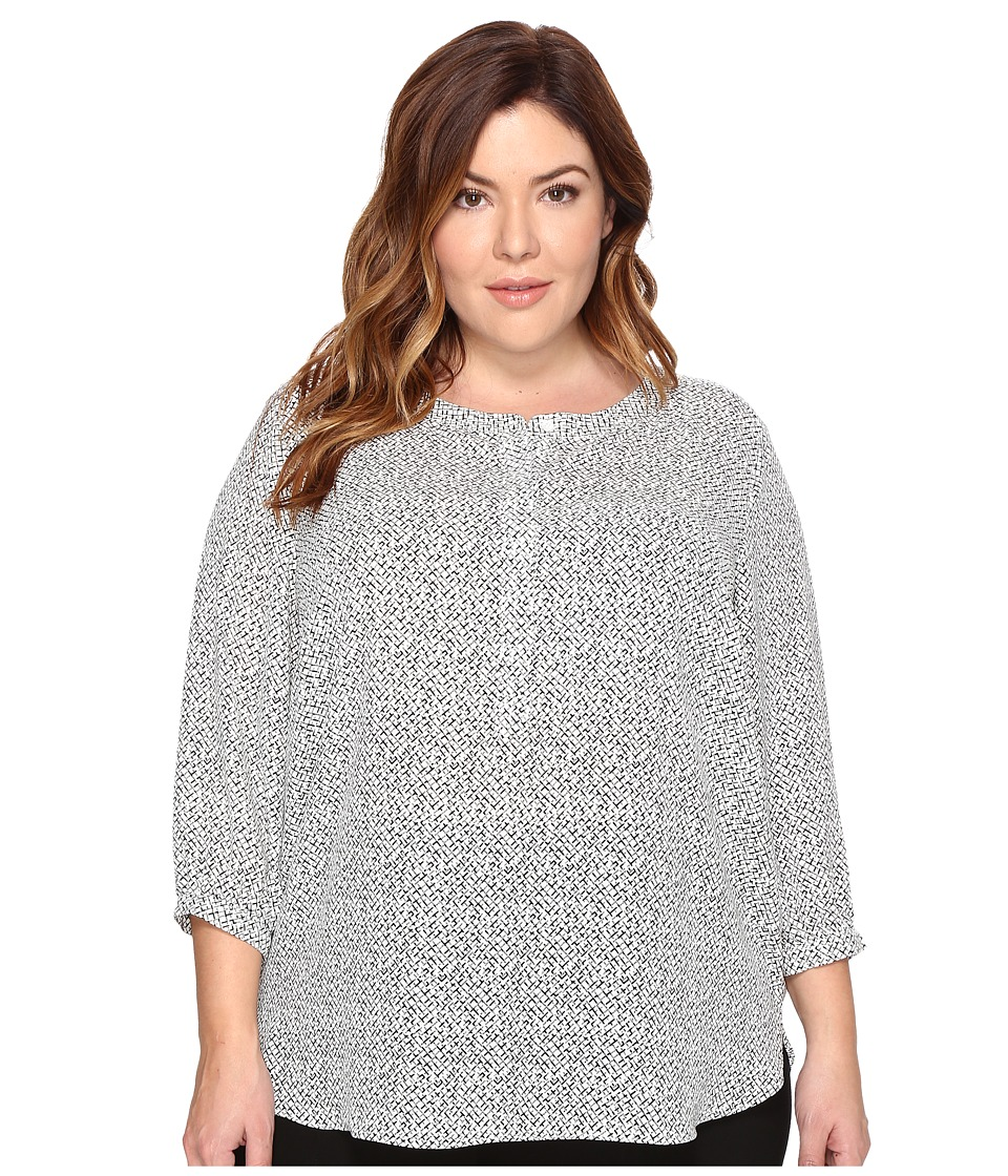 NYDJ Plus Size - Plus Size 3/4 Sleeve Pleat Back Top