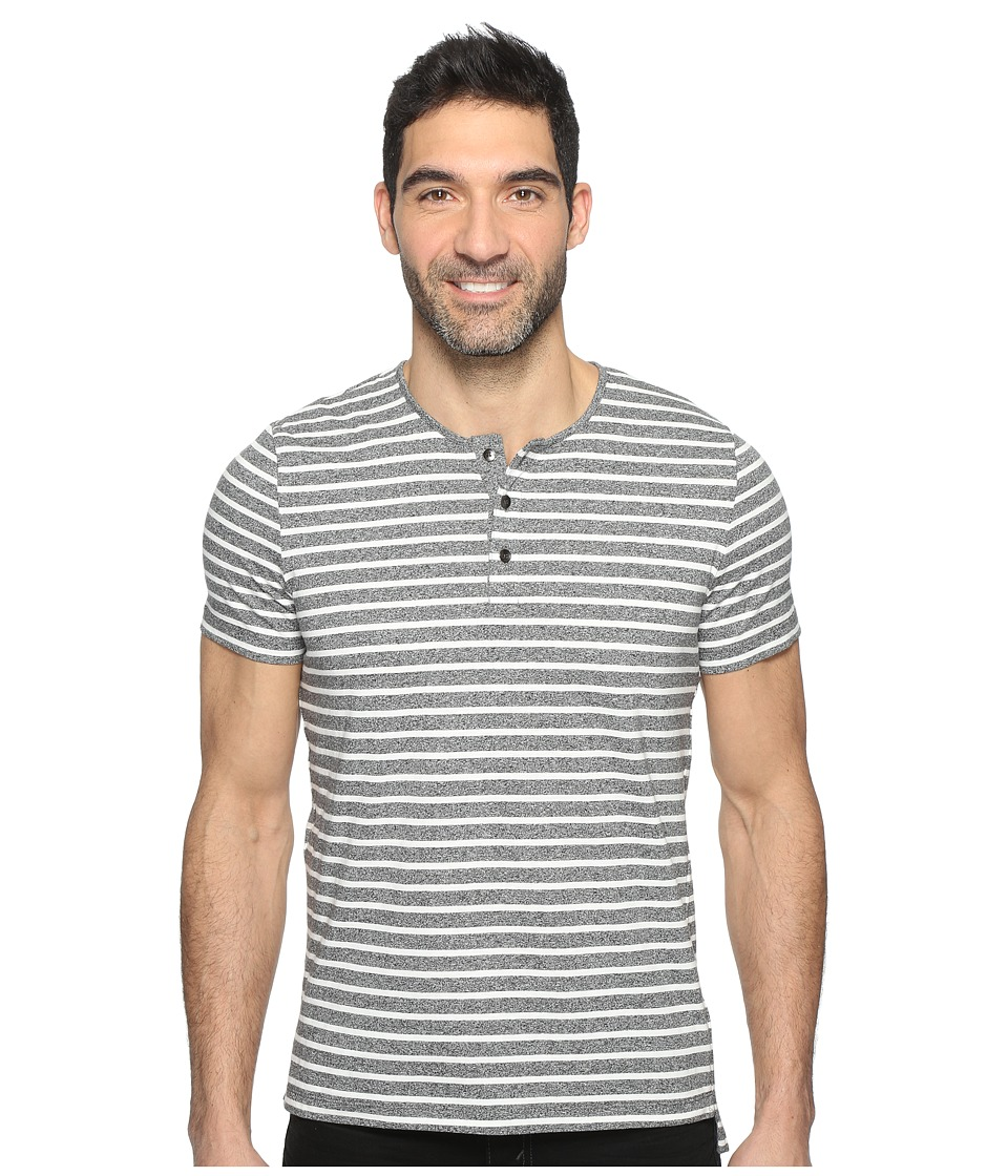 Kenneth Cole Sportswear - Short Sleeve Marled Stripe Henley