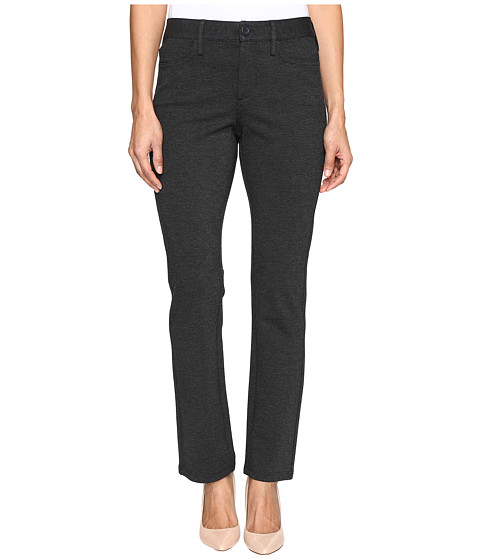 NYDJ Petite Petite Samantha Slim Leg Ponte Knit Pant - Charcoal