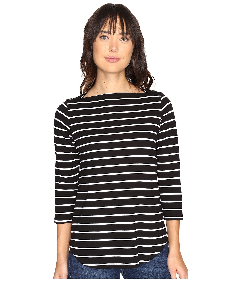 Pendleton Marseille Stripe Tee (Black/White) Women