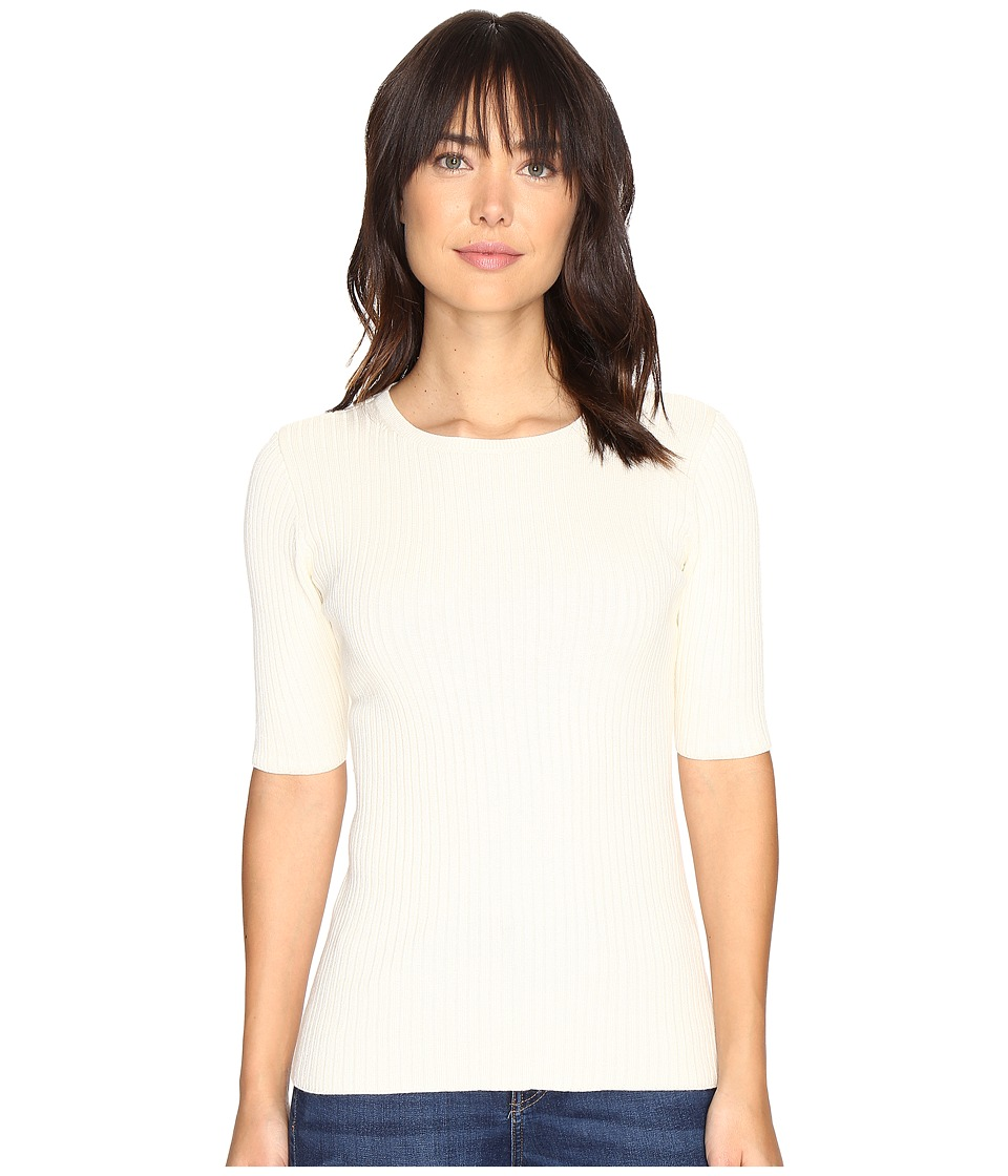 Pendleton Ribbed Pullover (Ivory) Women
