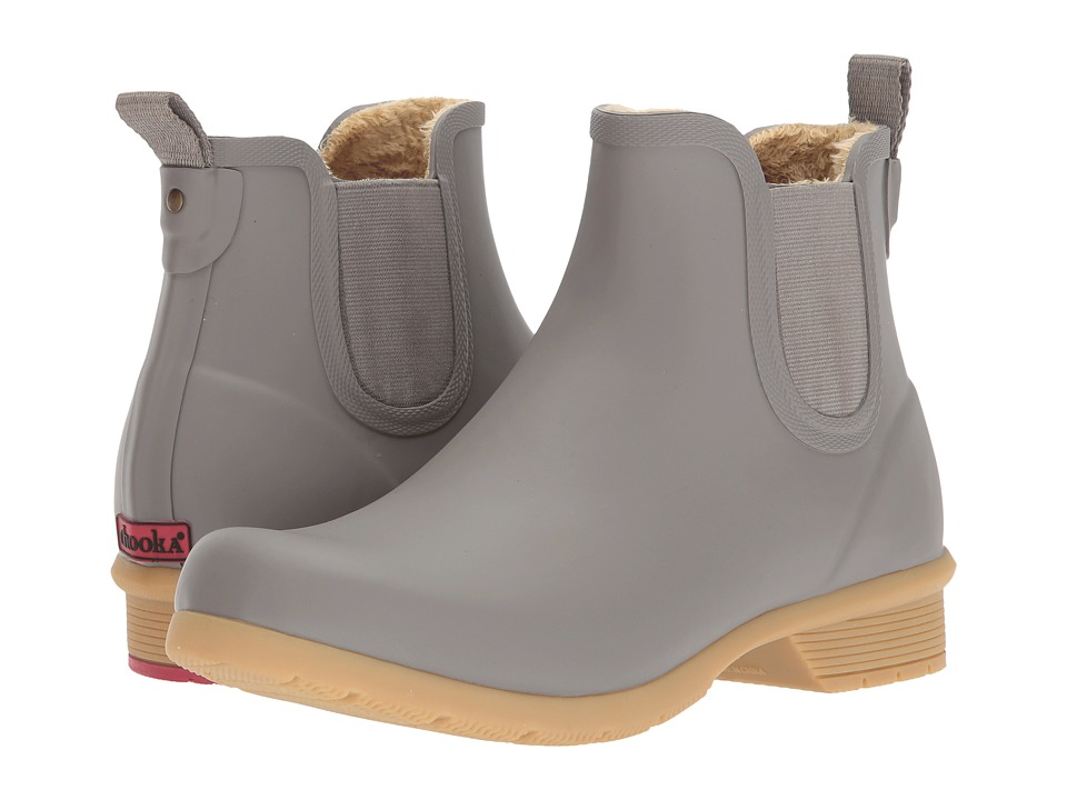 Chooka - Bainbridge Chelsea Ankle Boot (Stone) Womens Rain Boots