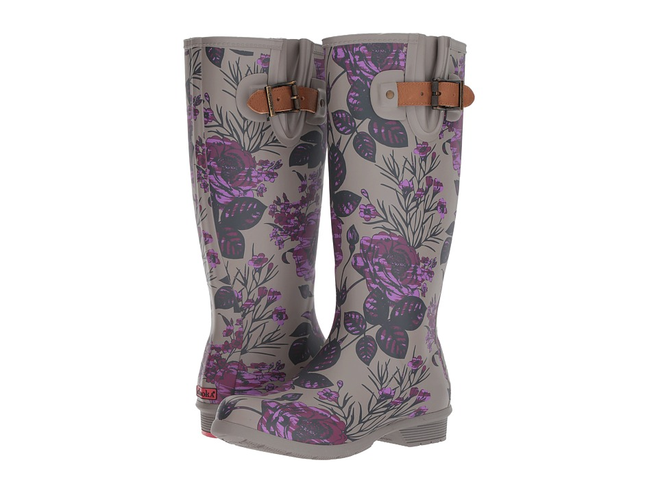Chooka - Hattie Tall Boot (Plum) Womens Rain Boots