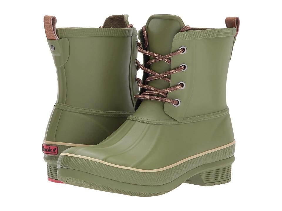 Chooka Classic Rain Duck Boot (Olive Green) Women's Rain Boots