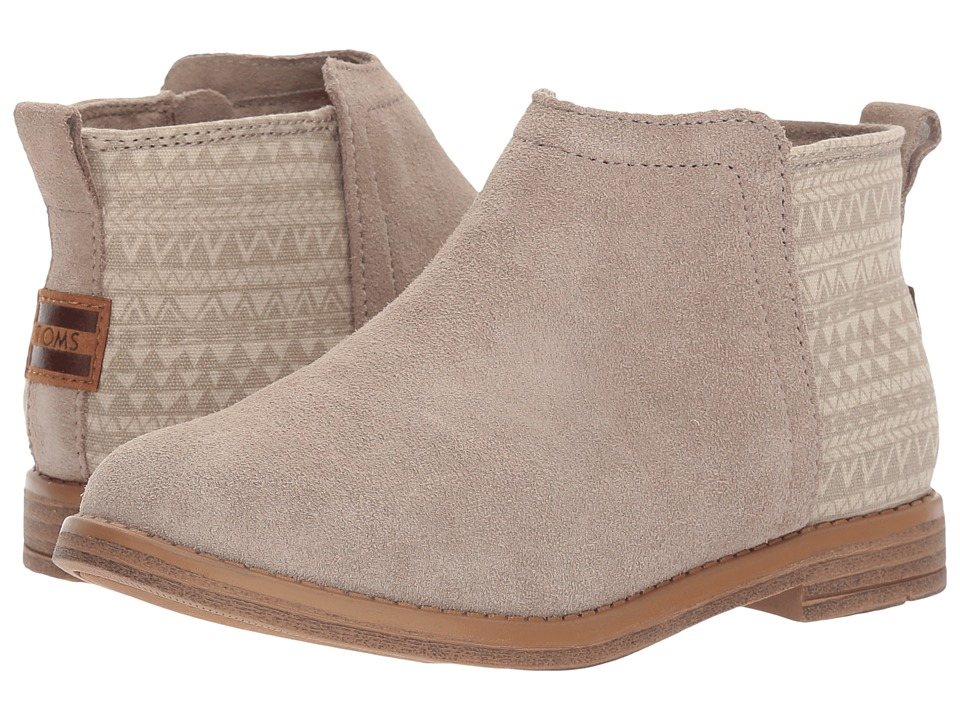 TOMS Kids Deia (Little Kid/Big Kid) (Desert Taupe Suede/Mud Hut) Girl's Shoes
