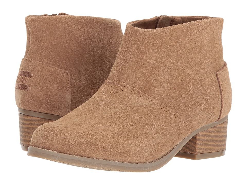 TOMS Kids Leila (Little Kid/Big Kid) (Toffee Suede) Girl's Shoes