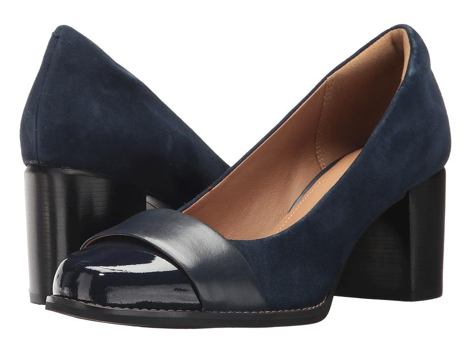 Clarks Tarah Brae (Navy Combo) Women's Shoes