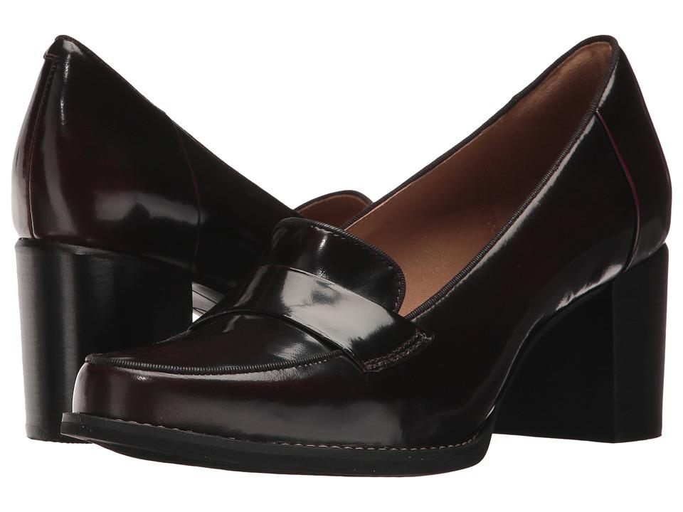 Clarks Tarah Grace (Burgundy Shiny Leather) High Heels