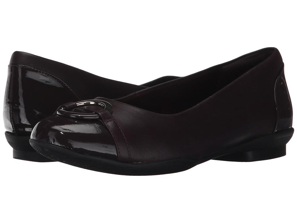 Clarks Neenah Vine (Aubergine Leather) Flats