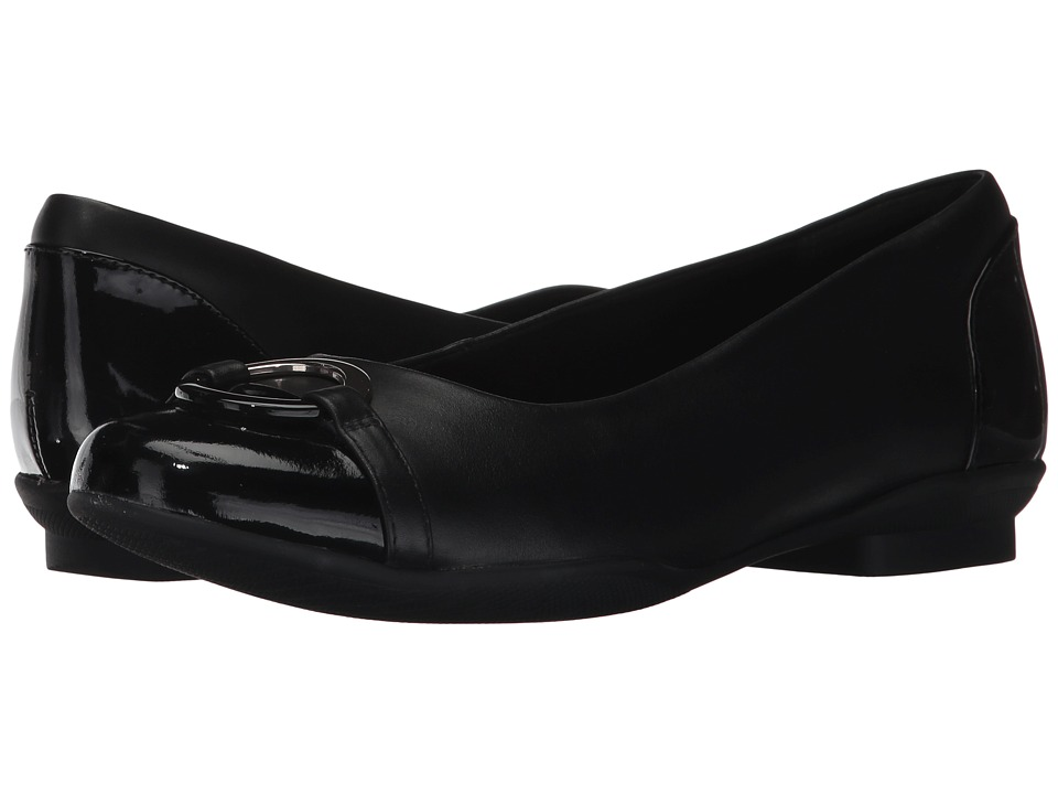 Clarks Neenah Vine (Black Leather) Flats
