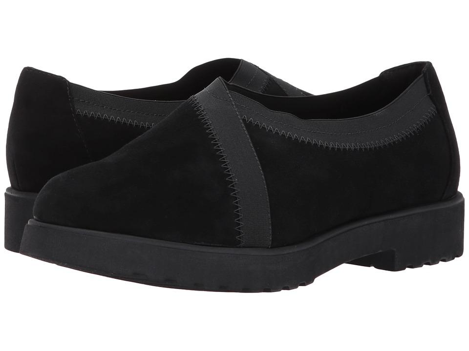 Clarks Bellevue Cedar (Black Suede) Women's Slip on  Shoes