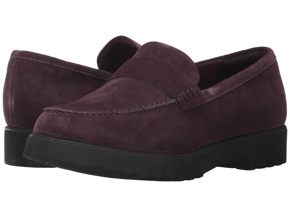Clarks - Bellevue Hazen (Aubergine Suede) Womens Slip on  Shoes