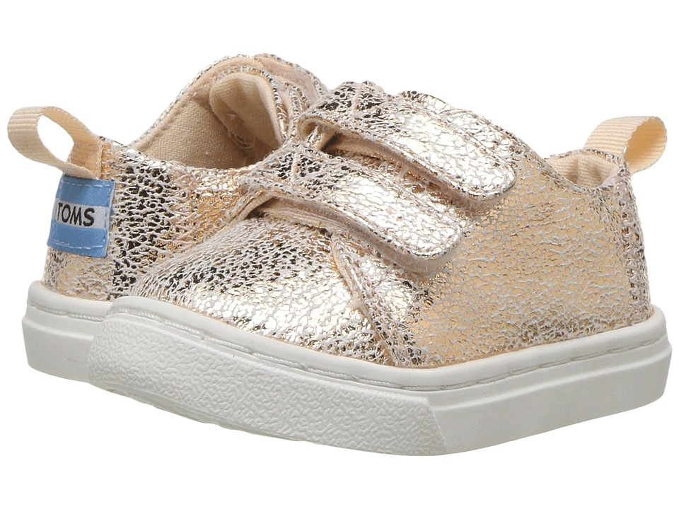 TOMS Kids Lenny (Infant/Toddler/Little Kid) (Rose Gold Crackle Foil) Girl's Shoes