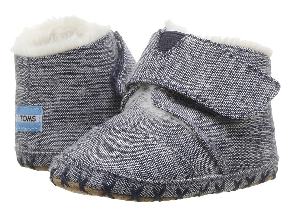 TOMS Kids Cuna (Infant/Toddler) (Navy Chambray) Kids Shoes