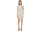 Just Cavalli - Long Sleeve V-Neck Sparkled Dress