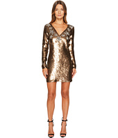 Just Cavalli - Long Sleeve Sequin and Stars Sequin Dress