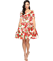 Unique Vintage - Short Sleeved Roman Holiday Dress