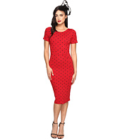 Unique Vintage - Short Sleeve Stretch Mod Wiggle Dress