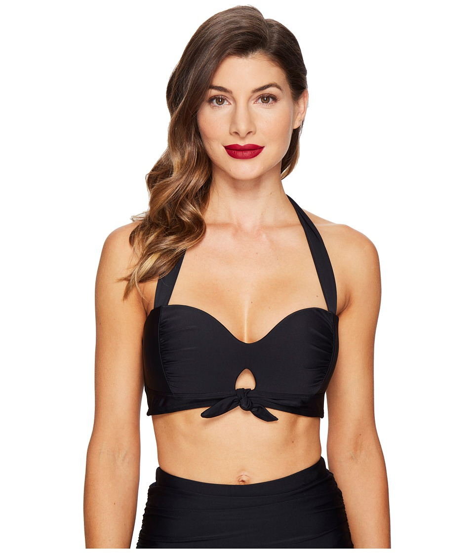 Unique Vintage - Mrs. West Halter Bikini Top