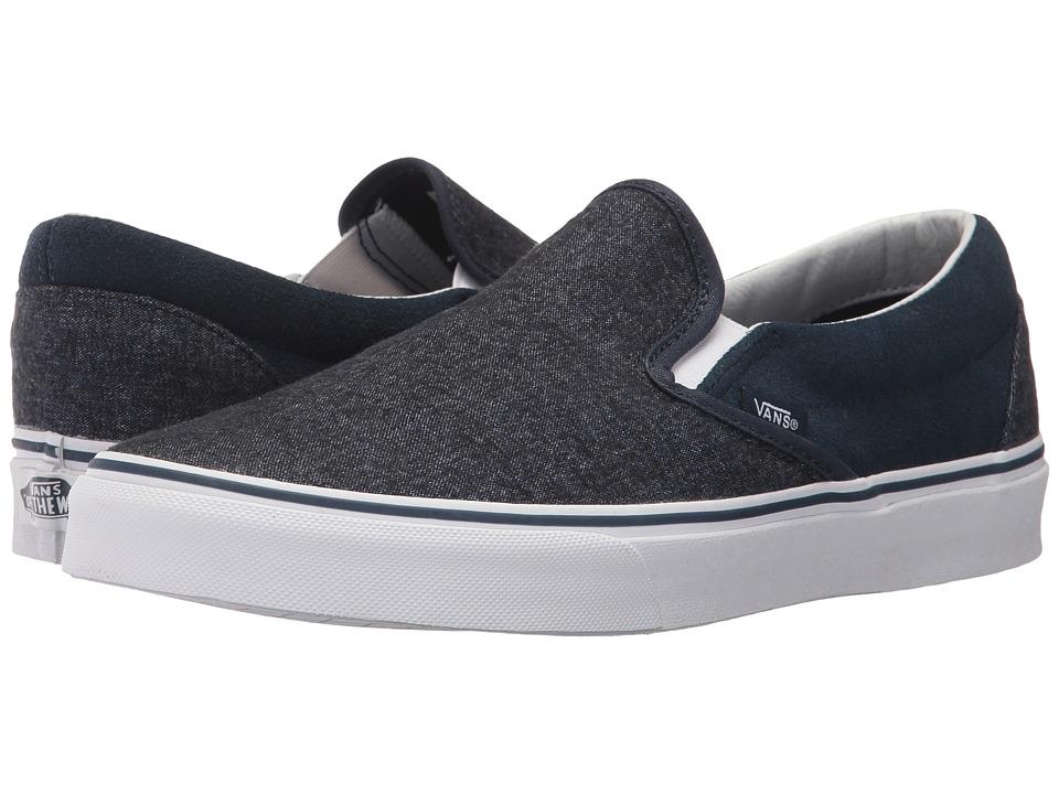 Vans Classic Slip-Ontm ((Suede & Suiting) Dress Blues) Skate Shoes