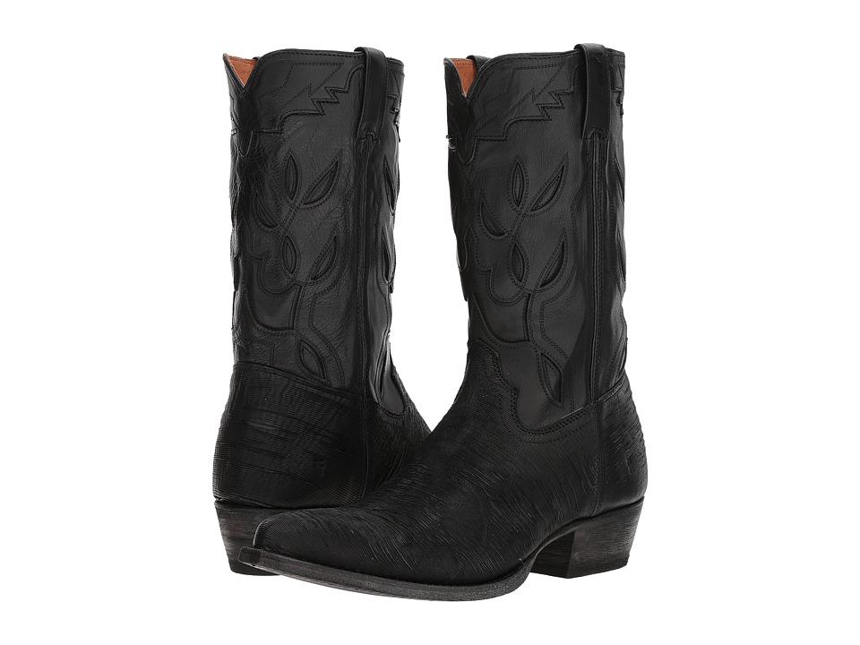 Frye Cheyenne 11L (Black Multi Cut Vintage Leather/Full G...
