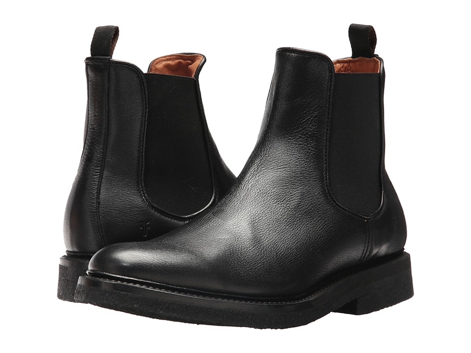 Frye Country Crepe Chelsea (Black Deer Skin Leather) Men