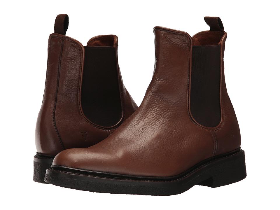 Frye Country Crepe Chelsea (Cognac Deer Skin Leather) Men
