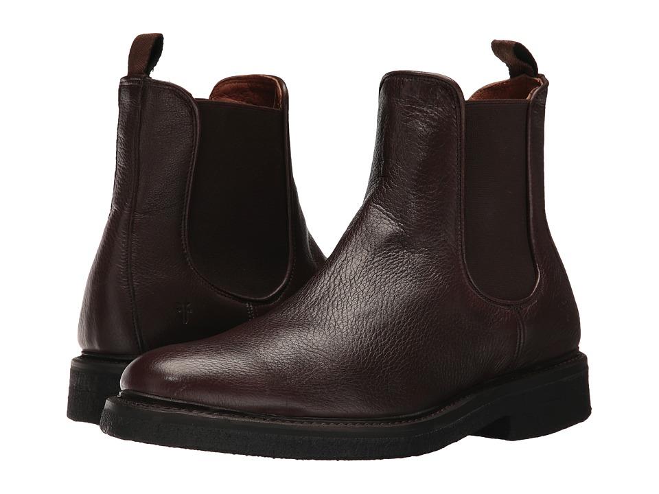 Frye Country Crepe Chelsea (Dark Brown Deer Skin Leather) Men