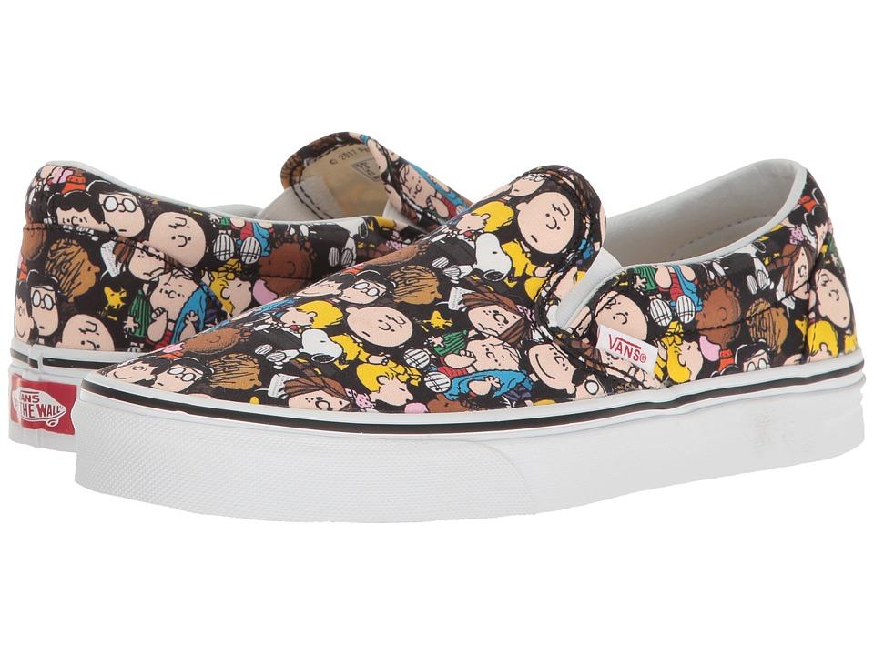 Vans Classic Slip-On X Peanuts Collaboration ((Peanuts) The Gang/Black) Skate Shoes
