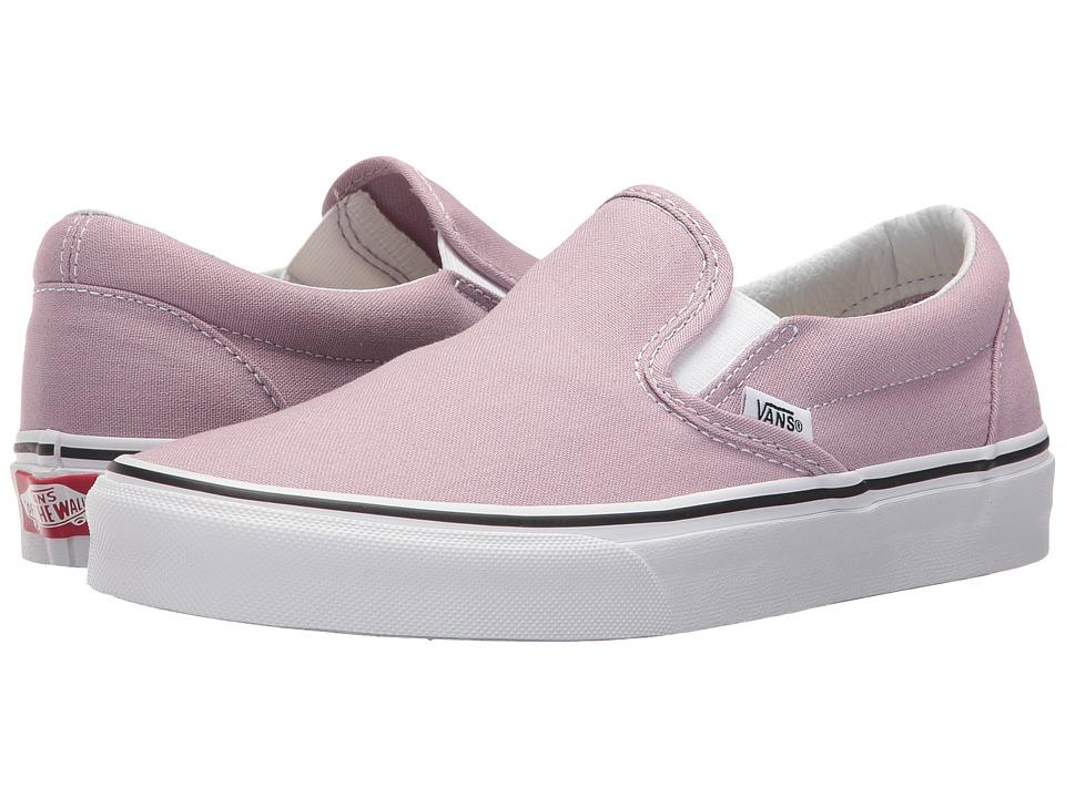 Vans Classic Slip-Ontm (Sea Fog/True White) Skate Shoes