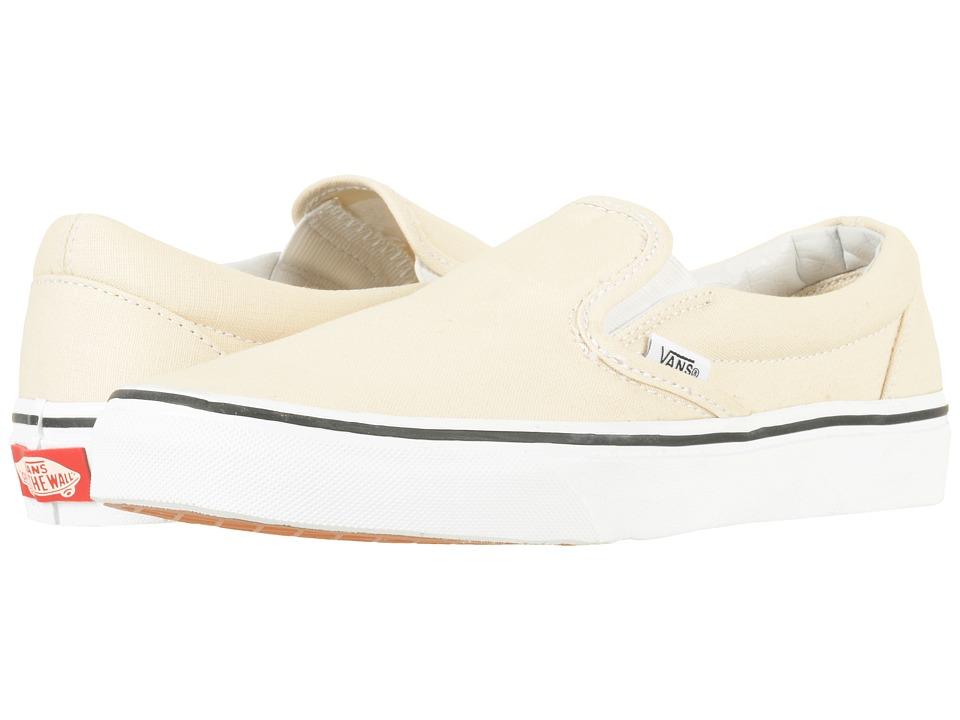 Vans Classic Slip-Ontm (Birch/True White) Skate Shoes