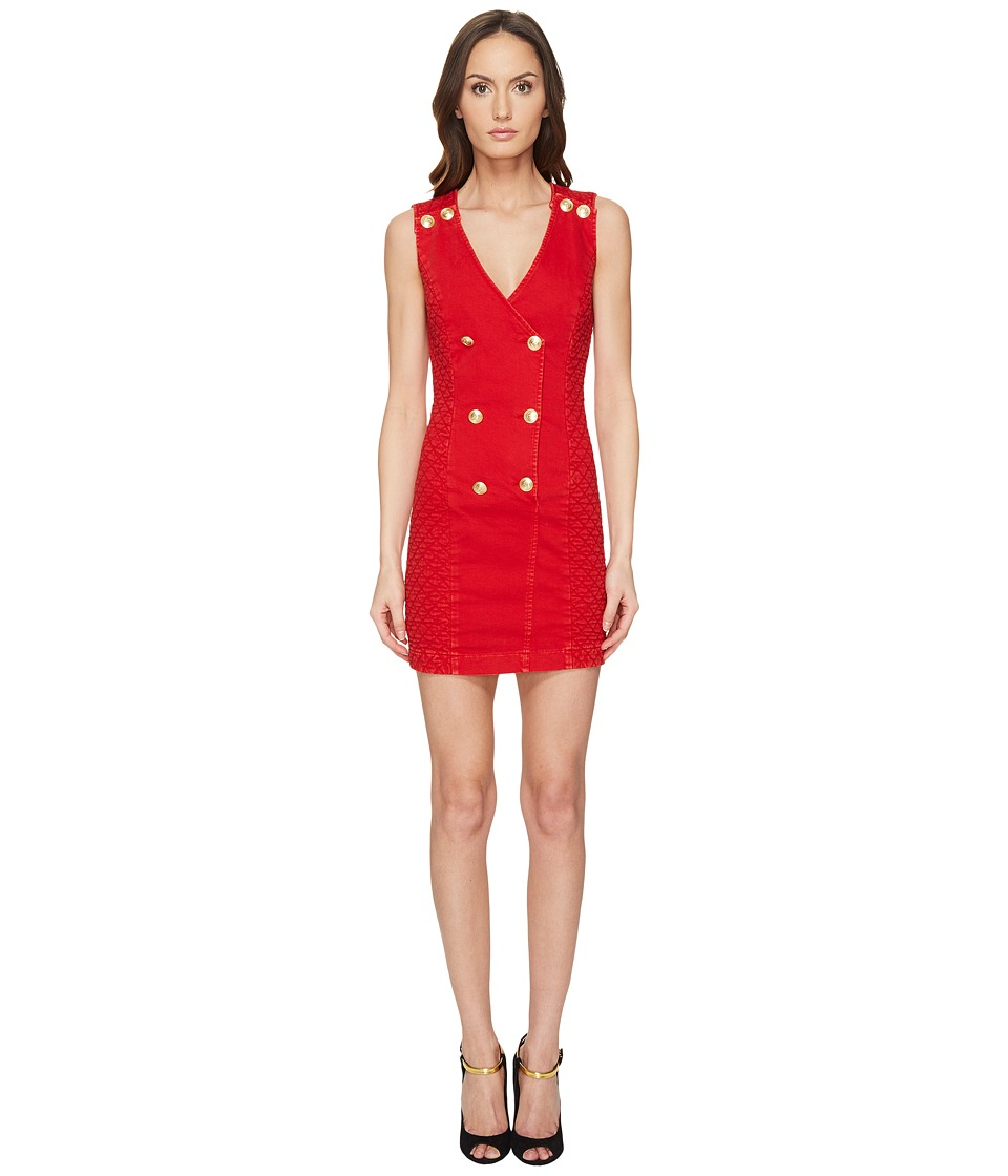 Pierre Balmain - Embellished Button Bodycon Dress