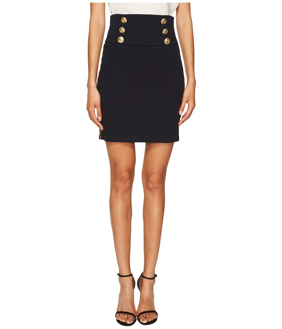Pierre Balmain - Embellished Button Skirt