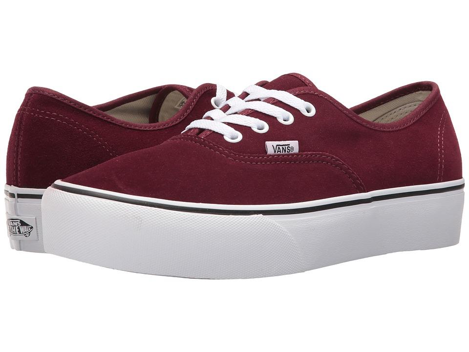 Vans Authentic Platform 2.0 ((Suede) Port Royale/True White) Skate Shoes