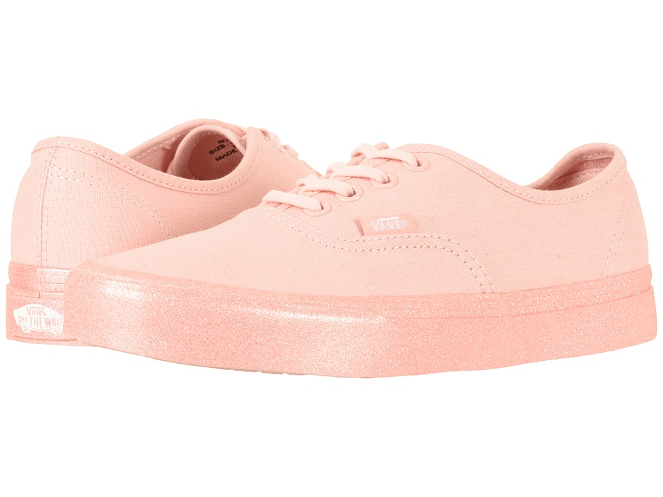 Vans Authentictm ((Metallic Glitter) Silver Pink) Skate S...