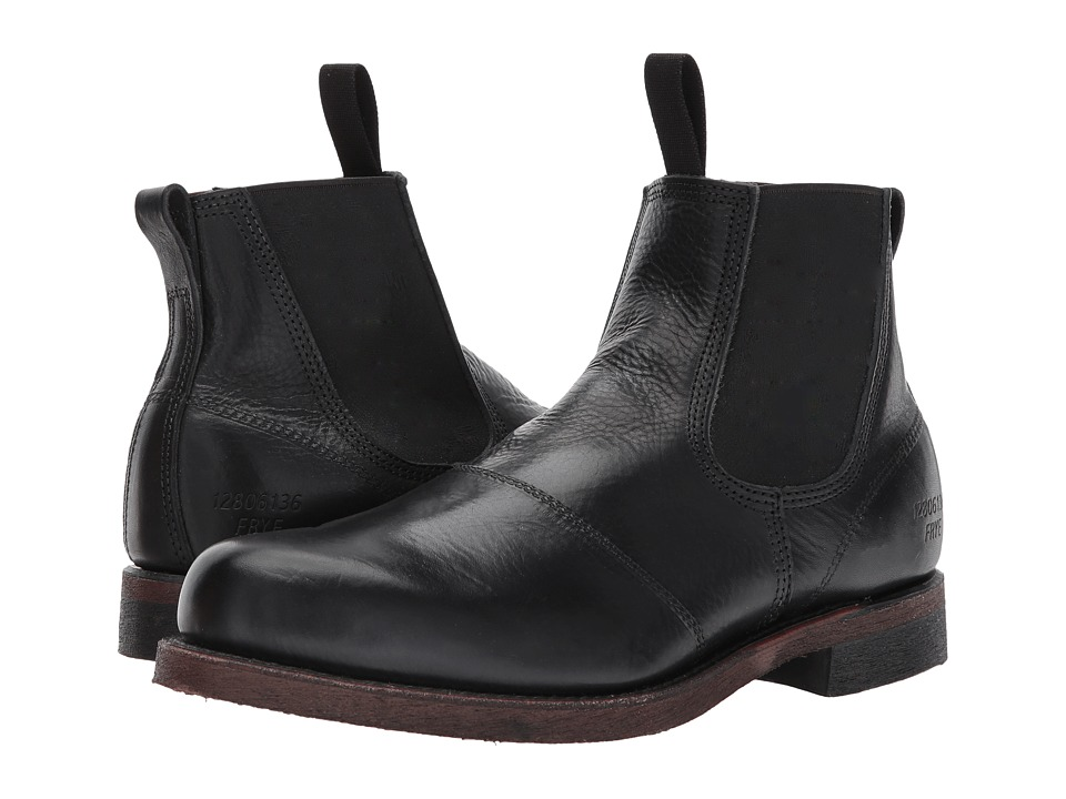 Frye - Prison Yard Boot (Black Full Grain Pull Up) Mens Lace-up Boots
