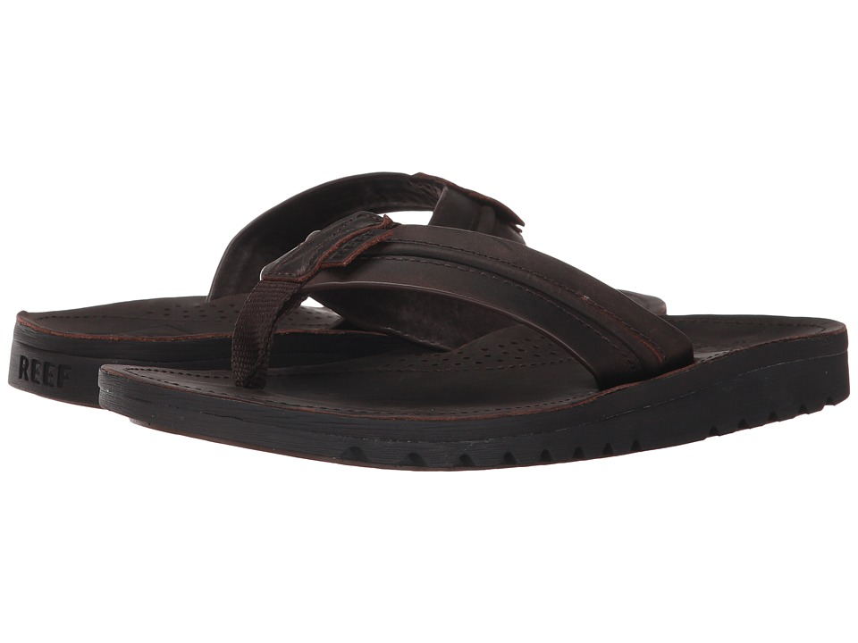 Reef - Voyage Lux (Dark Brown) Men's Sandals