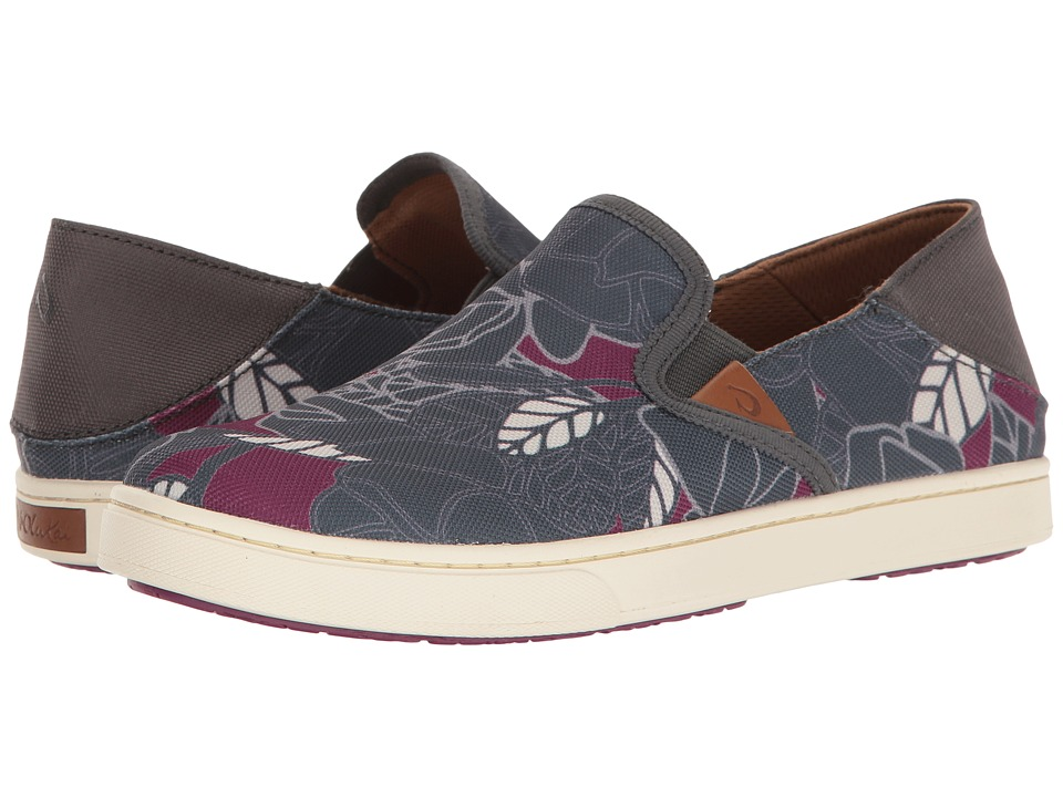 OluKai Pehuea Print (Dark Shadow/Cooler Grey) Women