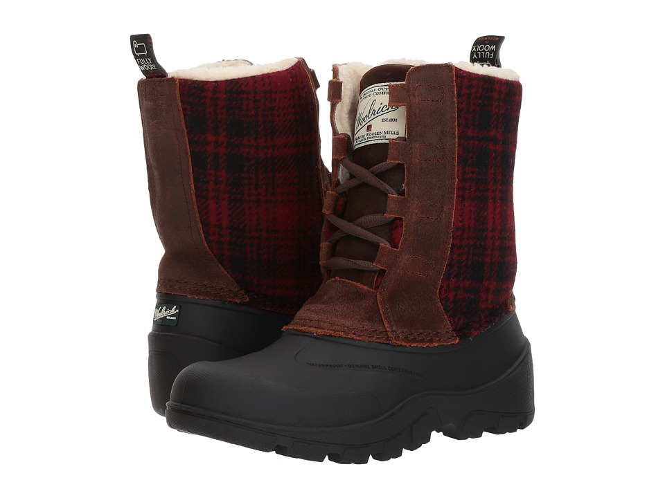 Woolrich Fully Wooly Tundracat (Coconut/Red Hunting Plaid...