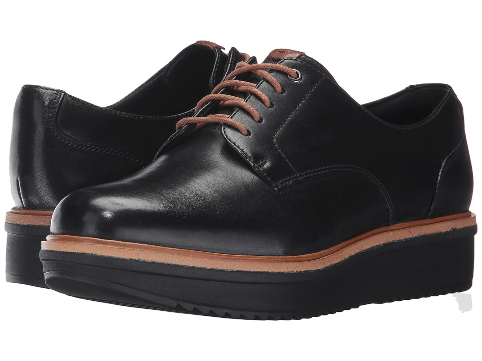 Clarks Teadale Rhea (Black Leather)
