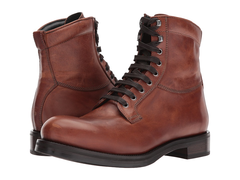 Frye Carter Lace-Up (Cognac Veg Tan Horse) Men