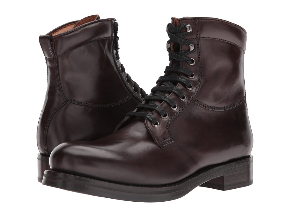 Frye Carter Lace-Up (Dark Brown Veg Tan Horse) Men