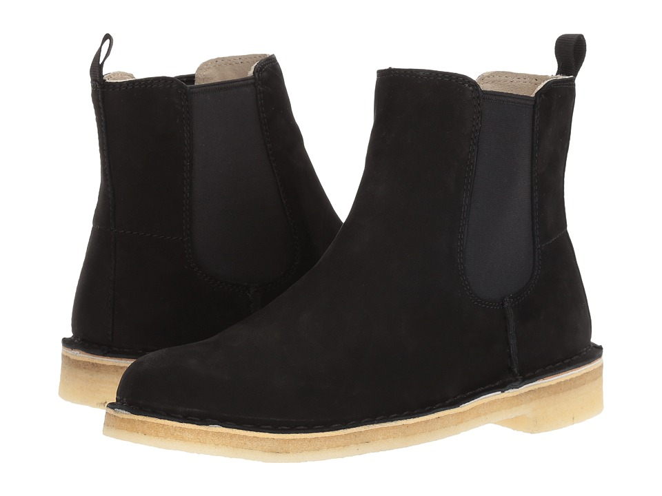 Clarks Desert Peak (Black Leather) Women