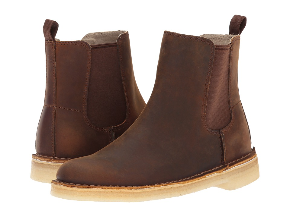 1960s Style Men's Clothing, 70s Men's Fashion Clarks - Desert Peak Beeswax Womens Pull-on Boots $140.00 AT vintagedancer.com