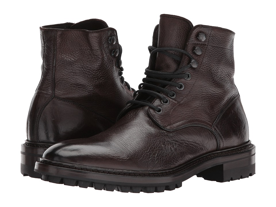 Frye Greyson Lace-Up (Dark Brown Deer Skin Leather) Men