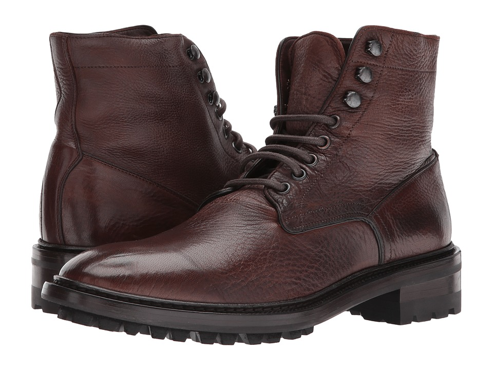 Frye Greyson Lace-Up (Cognac Deer Skin Leather) Men
