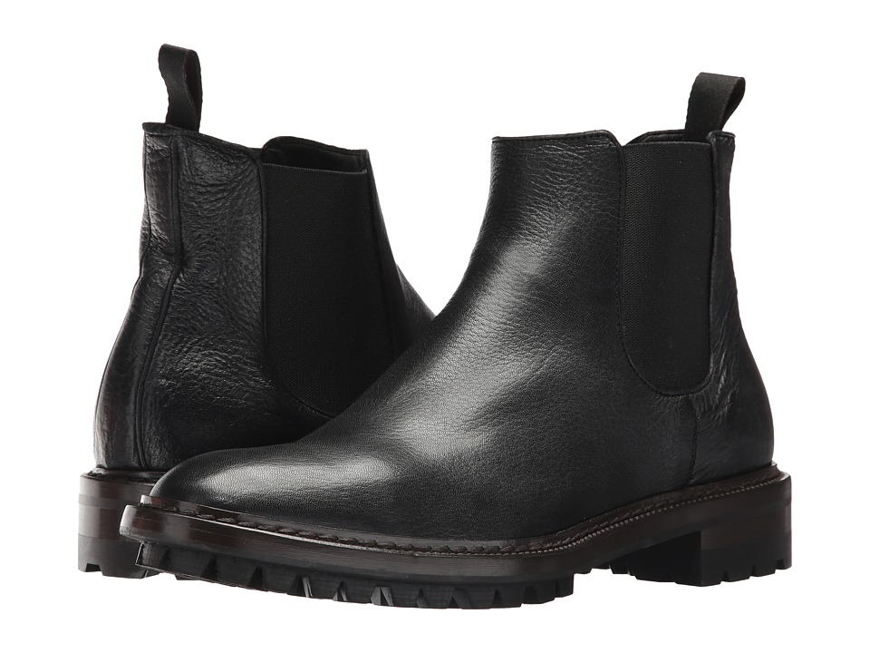 Frye Greyson Chelsea (Black Deer Skin Leather) Men